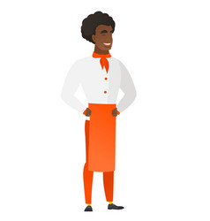 Young african-american chef cook laughing vector