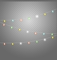 different color lighting garland set isolated on vector image