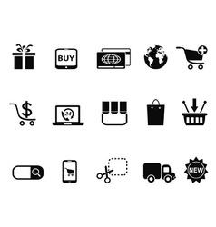 eCommerce Shopping icons set vector image vector image