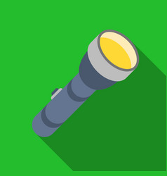 flashlight icon in flat style isolated on white vector image