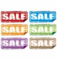 grunge sale labels vector image vector image