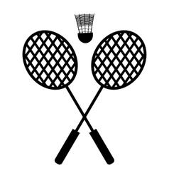 Playing badminton racket vector image