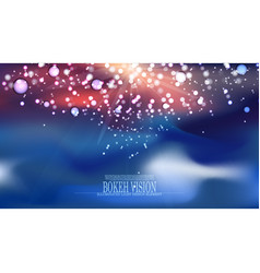 abstract bokeh vision background design ii vector image vector image