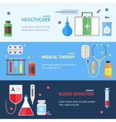 Medical Service Banner Set vector image