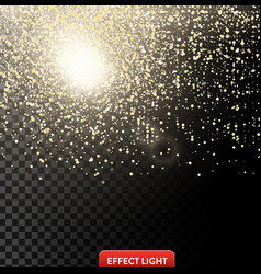 a falling shiny golden vector image
