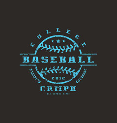 Emblem of baseball college championship vector
