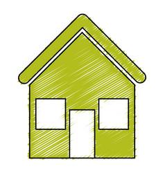 Green house ecology icon vector