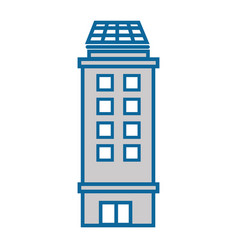 isolated city building vector image