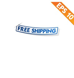 Logistic sticker - - EPS10 vector image