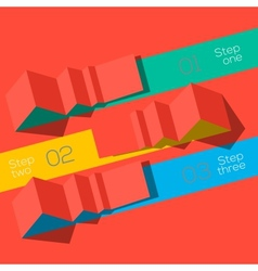 Modern design info graphic template origami styled vector image