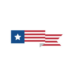 simple usa flag sign vector image
