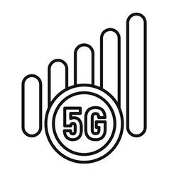 5g mobile icon outline style vector image