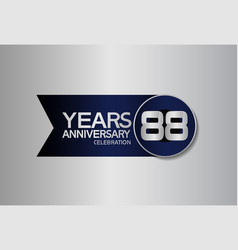88 years anniversary logo style with circle vector