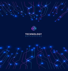 abstract technology lines with lighting glow vector image
