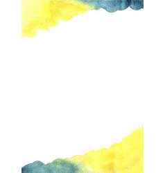abstract yellow and indigo blue watercolor vector image