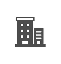Apartment house glyph icon or building sign vector