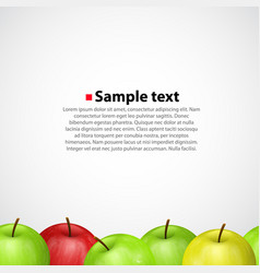 Apples on white sameness background vector