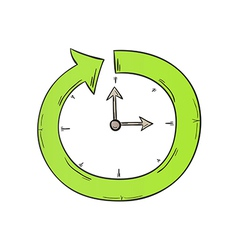 Arrow and clock vector