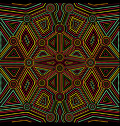 Australian aboriginal art point art geometric vector