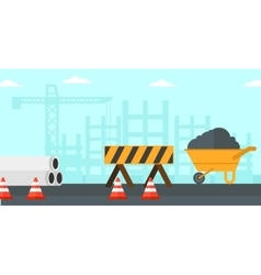 Background construction site vector