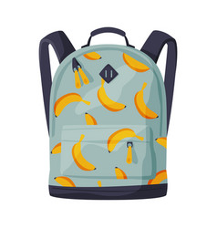 Backpack for schoolchildren or students front vector