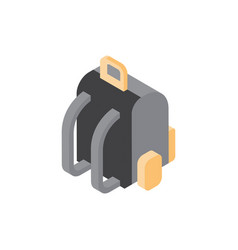 backpack hiking luggage icon isometric isolated vector image