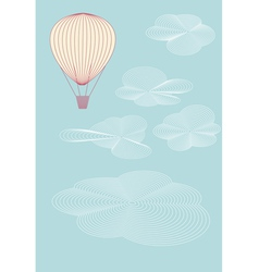 balloon flying in the sky vector image