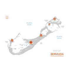 Bermuda map with administrative divisions vector