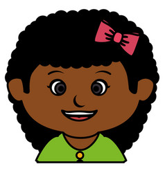 black little girl character vector image