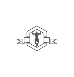 body fitness emblem logo vector image