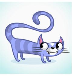 cartoon of funny cat vector image