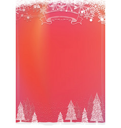 Christmas red background with snowflake and xmas vector