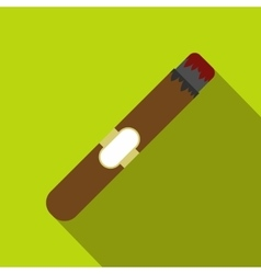 Cigar flat icon vector image