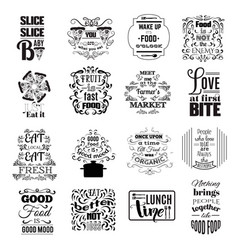 Collection quote typographical background vector