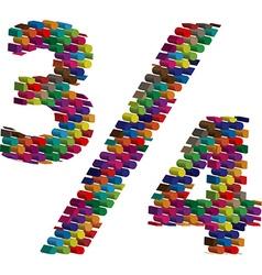 Colorful three-dimensional symbol vector
