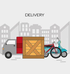 Delivery and shipping design vector