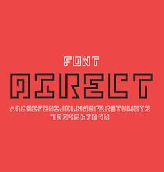 Direct font alphabet vector