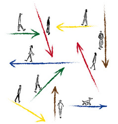 Drawn arrows for direction vector