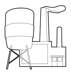 Factory icon outline style vector