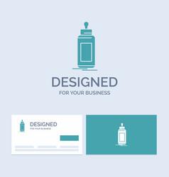 Feeder bottle child baby milk business logo glyph vector