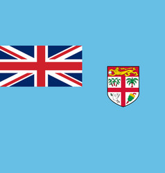 flag of fiji in official rate and colors vector image