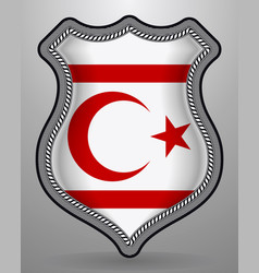 flag of northern cyprus badge and icon vector image