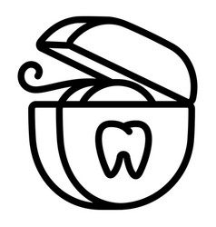 Floss box icon outline style vector