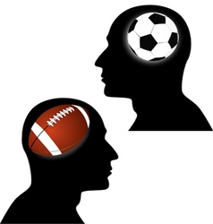 Football vs soccer vector