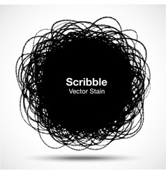 Hand Drawn in Pencil Scribble Circle logo design e vector