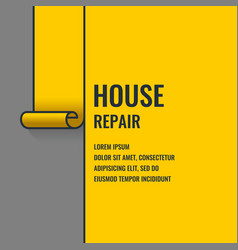 Home repair the original poster in a flat linear vector