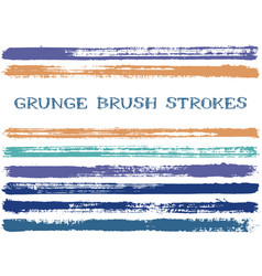 ink brush strokes isolated design elements vector image