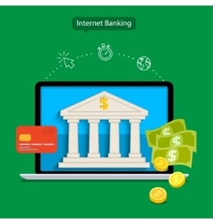 Internet banking vector