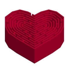Labyrinth in a shape of heart vector image