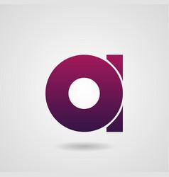 letter a logo icon design elements vector image
